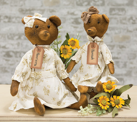 Hannah And Henrietta Primitive Teddy Bear