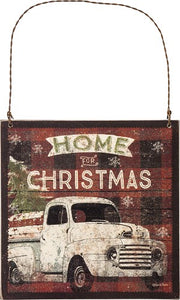 Home For Christmas Wood Hanger