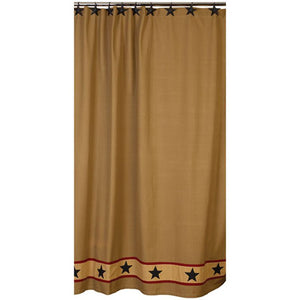 Khaki Barn Star Country Shower Curtain