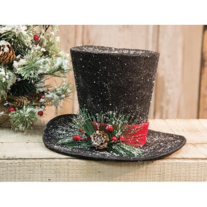 Large Black Top Hat