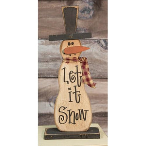 "Let It Snow 18.5"" Snowman on Base"