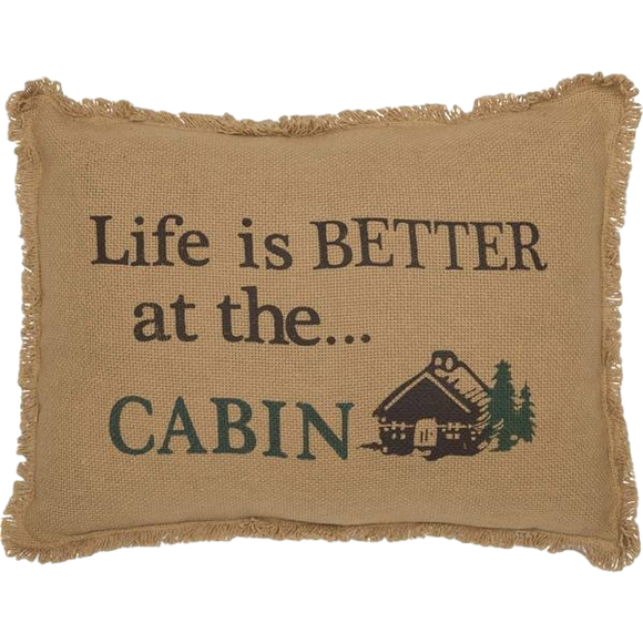 Life Is Better At The Cabin Pillow Cover by VHC Brands 14