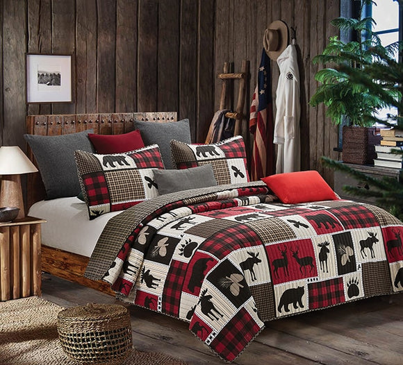 Lodge Life Queen Quilt 3 Pc Set