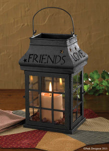 Love Home Family Friends Iron Lantern