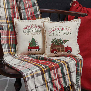 Merry Christmas Wagon Pillow by Park Designs