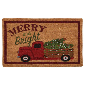 Merry And Bright Truck Door Mat