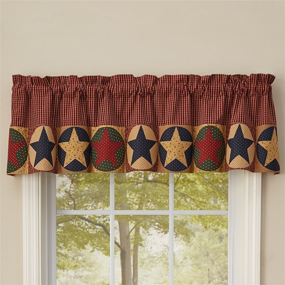 Montclair Lined Star Border Valance