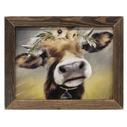 Moo Moo Cow Framed Farmhouse Print
