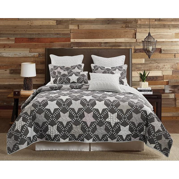 Mountain Star King Quilt 3 Pc Set