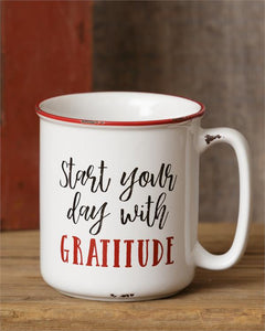 Start Your Day With Gratitude 20 oz Stoneware Mug