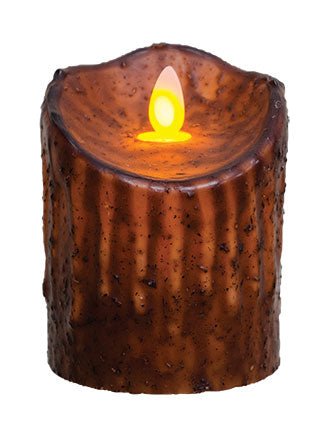 Mustard Flicker Pillar Candle
