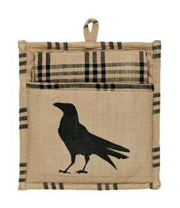 Olde Crow Potholder and Dishtowel Gift Set