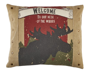 Our Neck Of The Woods Moose Pillow