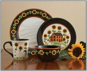 House And Sunflower Dishes by Park Designs