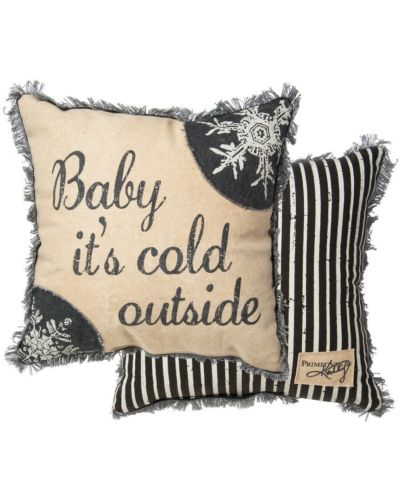 Baby It's Cold Outside Large Pillow 15