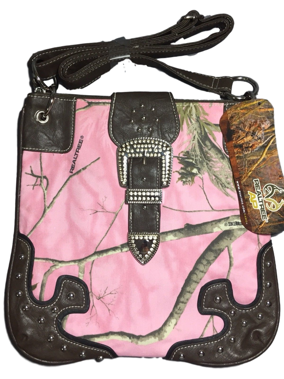 Realtree Pink Camo Crossbody Purse