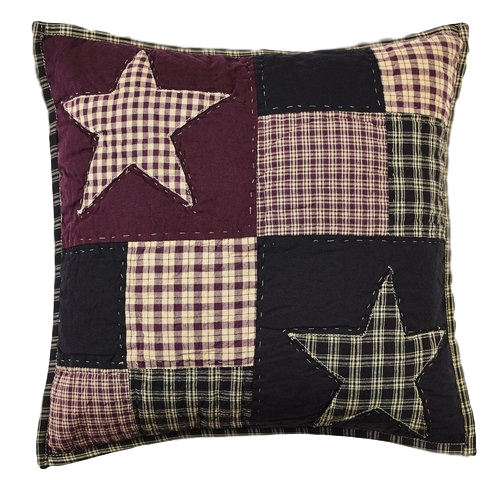 Plum Creek Quilted Star Pillow Cover