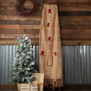Prim Christmas Blessings Woven Throw