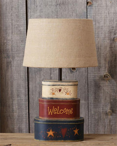 Primitive Nesting Boxes Lamp With Shade