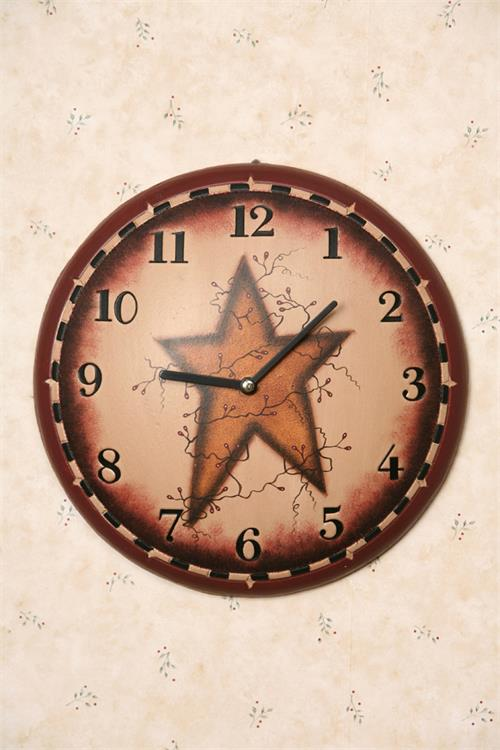 Primitive Star Wall Clock