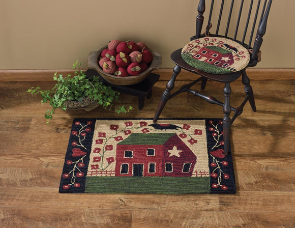 Red House Handcrafted Hooked Rug