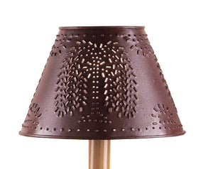 Willow Tree Punched Tin Lamp Shade