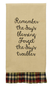 Remember The Days Blessing Tea Towel