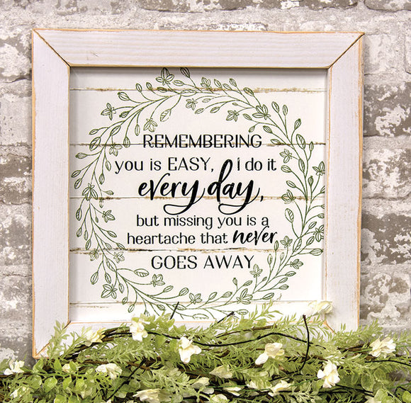Remembering You Framed Print