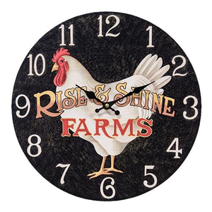 Rise & Shine Farmhouse Clock