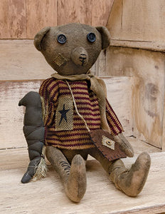 "Robert E. Bear 17"" Primitive Teddy Bear"