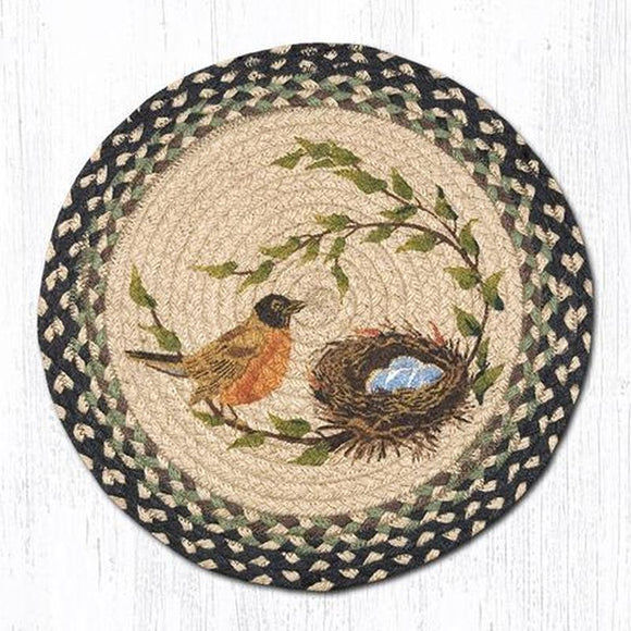 Braided Jute Robins Nest Chair Pad