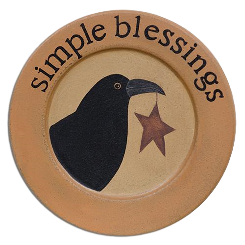 Simple Blessings Crow Plate