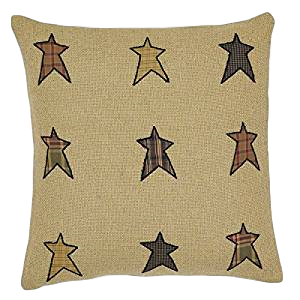 "Stratton Applique Star 18"" x 18"" Pillow"