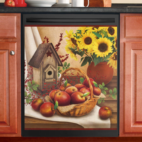 Sunflowers and Apples Country Dishwasher Magnet