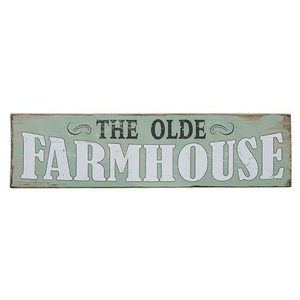 "The Olde Farmhouse 21"" Wooden Sign"