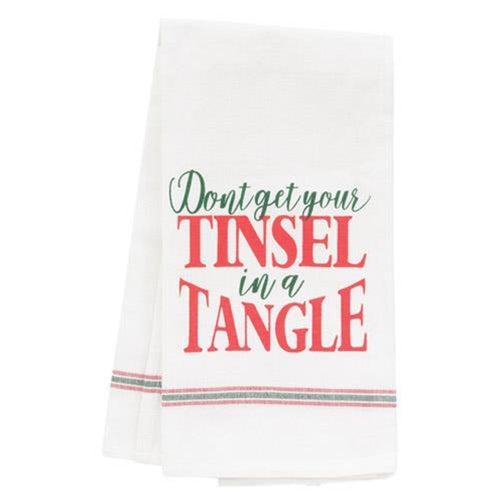 Tinsel In A Tangel Dish Towel