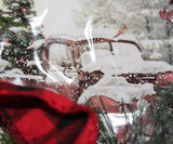 Vintage Red Pickup Truck Lit Wreath
