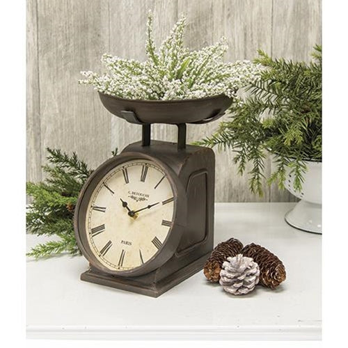 Vintage Farmhouse Scale Clock