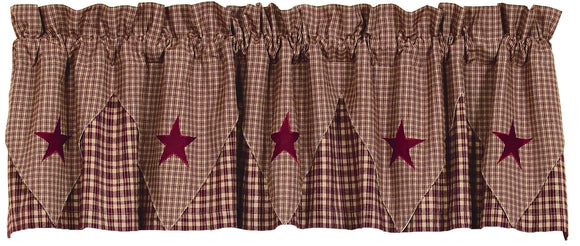 Vintage Star Wine Pointed Valance