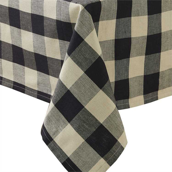 Wicklow Black And Cream Buffalo Check Tablecloth