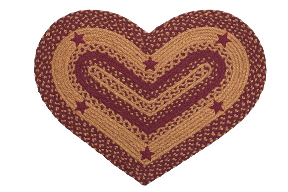 Wine Star Heart Rug 20