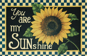 You Are My Sunshine Sunflower Floor Mat