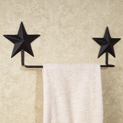 Black Barn Star Towel Holder