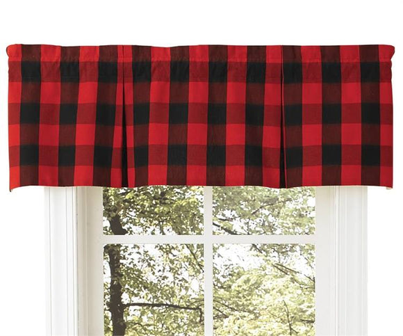 Buffalo Check Lined Pleat Valance