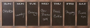 "Large Chalkboard Daily Message Board - Over 50"" wide!"