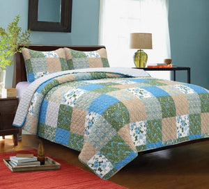 Country Garden 3 Pc Queen Quilt Set