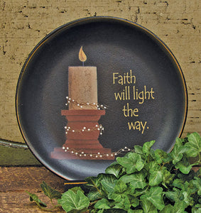 Faith Will Light The Way Decorative Plate