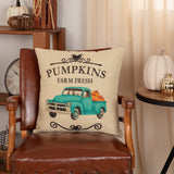 "Fall On The Farm Truck 18"" x 18"" Pillow"