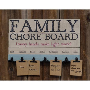 Family Farmhouse Chore Board