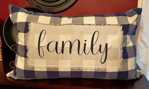 Buffalo Check Family Jumbo Pillow